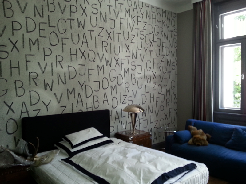 tapeten malerei norbert f llerer interieur handwerk. Black Bedroom Furniture Sets. Home Design Ideas